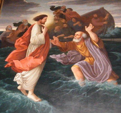 L'attribut alt de cette image est vide, son nom de fichier est Jésus-marchant-sur-leau-église-Saint-Trojan-_-Oléron.jpg.